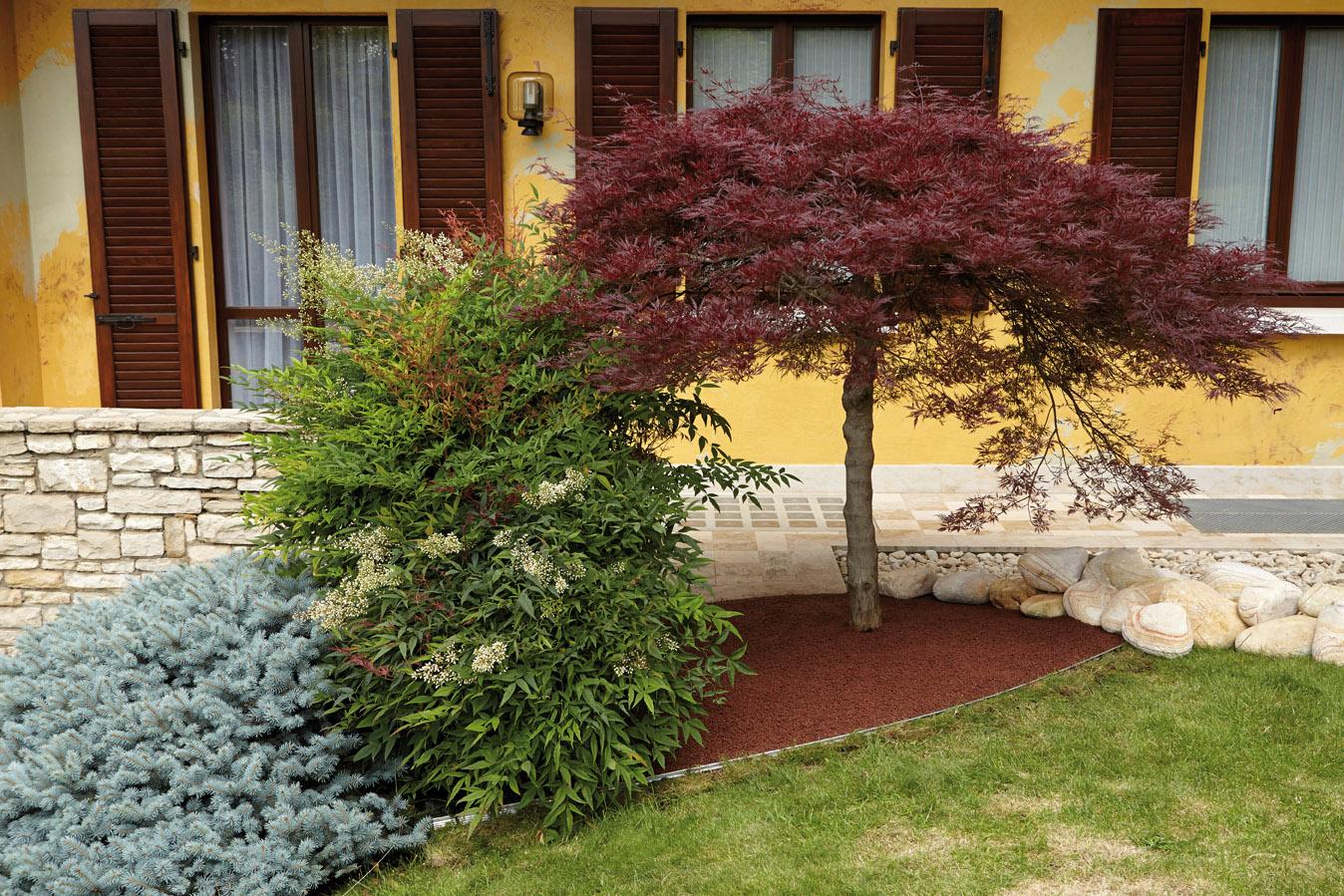 Alubord die einfassung granulati zandobbio for Sassi per bordure giardino