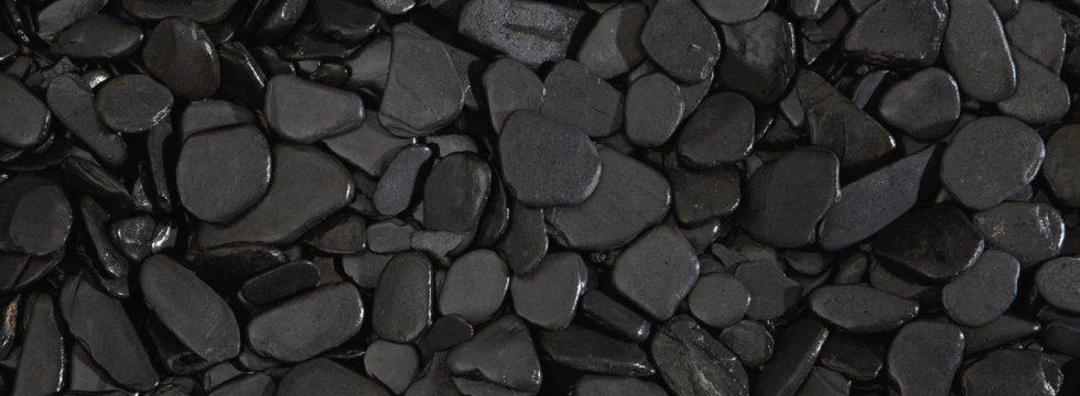 ciottoli piatto nero 30 50