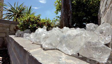 giardino con finto vetro Granulati zandobbio