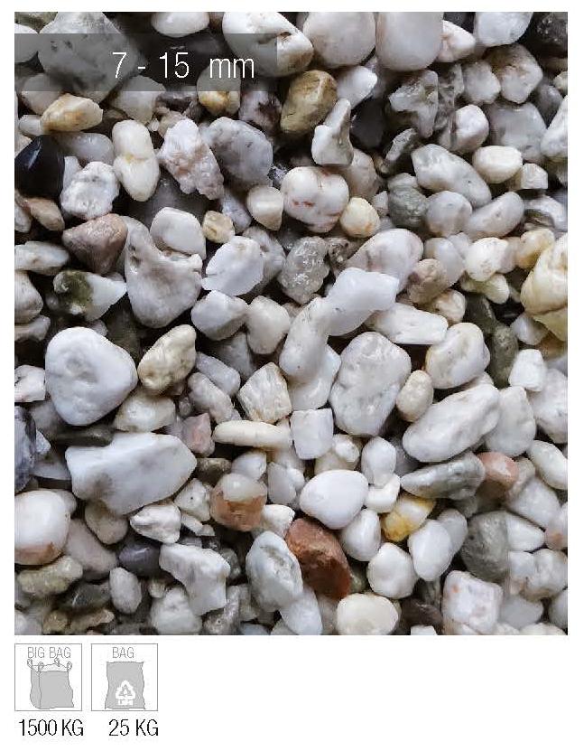 ciottolo white quartz