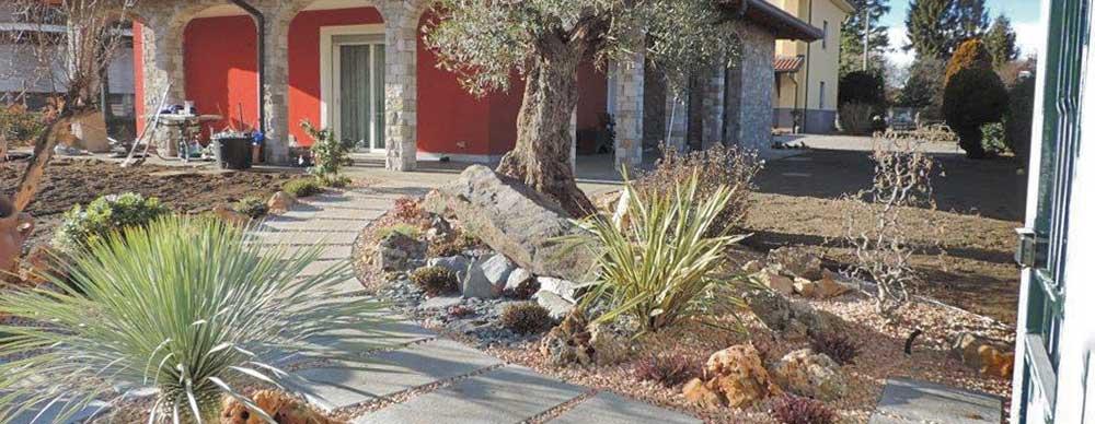 Villa Como, granualti, monoliti, pavimenti camminamenti in pietra naturale